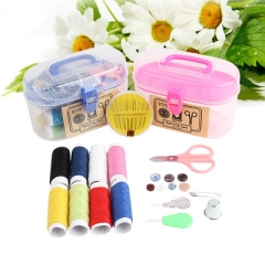 Travel Portable Family Sewing Sewing Kit Treasure Chest Sewing Kit Set Random Color one size
