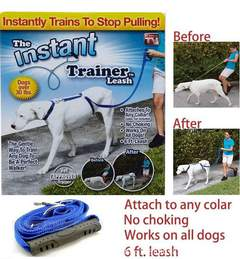 Dog Leash Trains Dogs Stop Pulling As Seen on Tv Dogwalk Best Selling Leash Online Will Stop blue one size