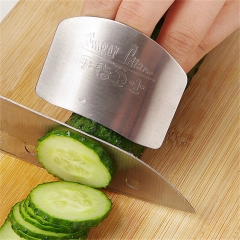 Stainless Steel Finger Hand Protector Guard Chop Safe Slice Knife Kitchen Tool white one size