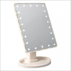 Rotatable Touch Screen 22 Lamps LED Makeup Mirror Large Size Beauty table Mirror white one size
