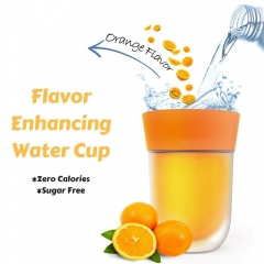 Creative Fruit Flavored Cup Drink Bottle Containers Water Mug Flavor Enhancing Water Cup orange one size