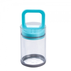 Vacuum Sealed Jar Glass Pull Can Vacuum Jars Lid For Jars Food Grains Container Storage Canister blue one size