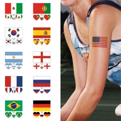 2018 Football World Cup National Flags Tattoo Stickers Football Funs Watching Body Sticker 32 National flag one size