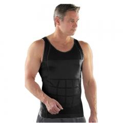 Men Vest Body Tummy Belly Waist Girdle Shirt Shapewe Comfort Shirt Vest Corset Shaper Underwear black S