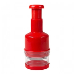 Stainless Steel Hand Pressure Vegetable Kitchen Garlic Chopper Multifunction Device Cut Vegetable red one size