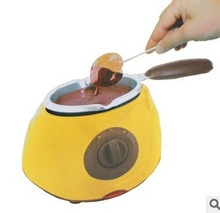 Chocolatiere Electric Chocolate Melting Pot For Fondue Party Kitchen Food Processor With Tools yellow one size