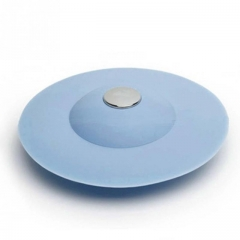 Floor Drain Hair Stopper Hand Sink Plug Bath Catcher Sink Strainer Cover Tool blue one size