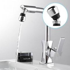 360 Degree Aerator Water Bubbler Swivel Head Water Saving Stainless Steel Rotary Head Faucet Nozzle silver one size