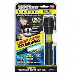Bell+howell taclight elite light LED flashlight 40X retractable flashlight black one size 1W