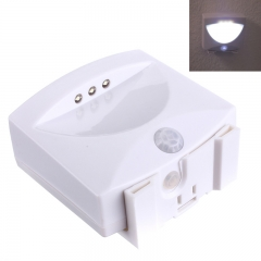 High Quality Mighty Light 3 LED Motion Sensor Activated Night Light Garage Basement Hallway white one size 1w