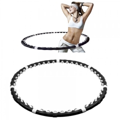 Hoola Hoop Fitness Equipment Exercise Massager Lose Leight Hula-hoop black one size