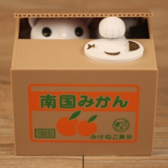 Cat Thief Money Boxes toy Piggy Banks Kids Money Boxes Automatic Stole Coin Piggy Bank Money 1 one size