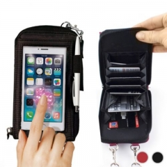 Practical All In 1 Touch Mobile Smart Phone Smartphone for Iphone Android Wallet Purse Case black one size
