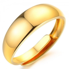 Fashion Gold Plating Ring 18K Gold Do not Fade Ms Ring gold one size