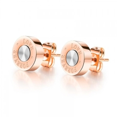 The New Temperament Personality LOVE Plated Rose gold Titanium Steel Fashion Earrings gold ms