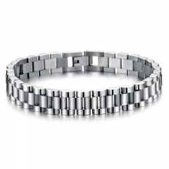 Popular Stainless Steel Accessories Personality Fashion Wild Men Bracelet silver one size