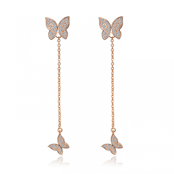 Trend Personality Temperament Fashion Earring Simple Bow tie Prevent Allergy Earring gold one size