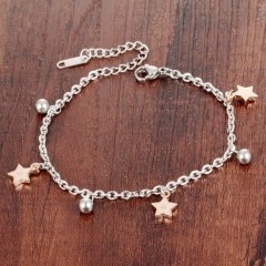 Bells Star Titanium Steel Ms Bracelet Fashion Personality Trend Anklet gold one size