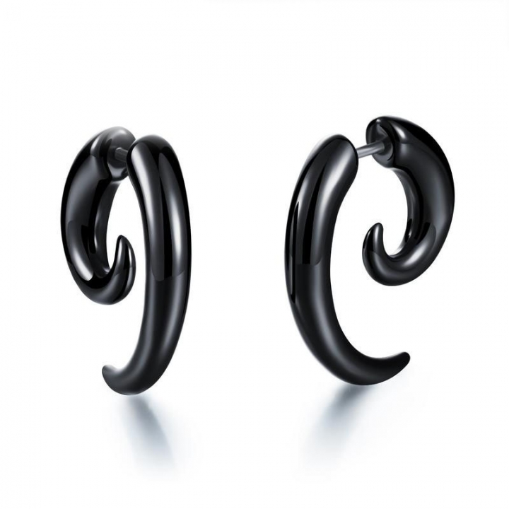 The New Acrylic Black Snails Earring Ms Puncture Fashion Earrings black one size