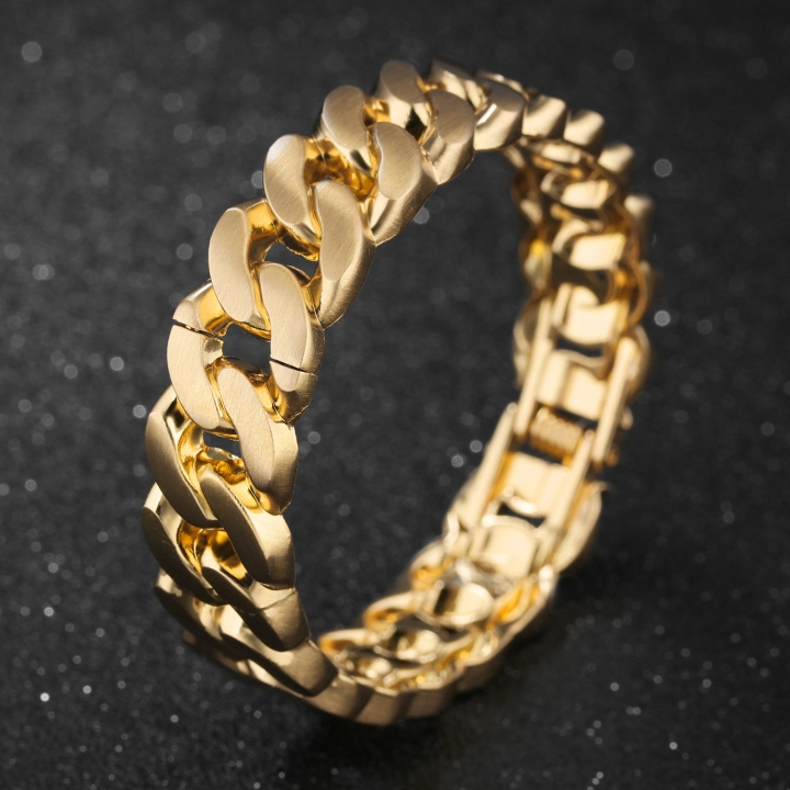 Ms Simple Copper Plated 18k gold Bracelet Fashion Personality Student Wristband gold one size
