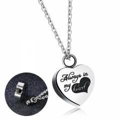Western Style Personality Fashion Commemorate Love Pendant Ms Stainless Steel Exquisite Necklace silver one size