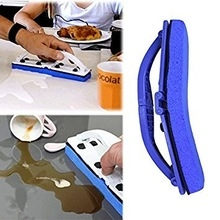 New Folded Ideas Sponge Blue Sponge Flexi Brush with Handle for Window, Desk and Kitchen blue one size