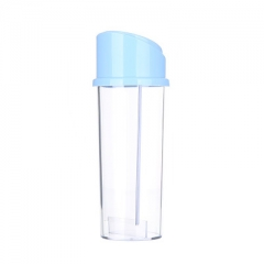 White Sugar Component Measuring Cup Spice jar Automatic Uncover Spice jar Component Cup blue one size
