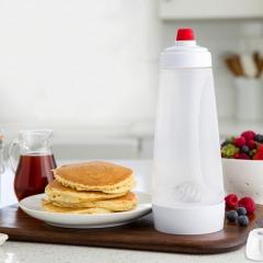 Pancake Dispenser Waffles Batter Dispenser Mix Bottle Kitchen Cake Baking Cookie Tools white one size