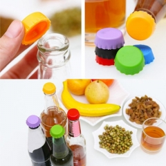 Silica Gel Beer Cover 6 Pieces Round Wine Bottle Cap kitchen Preservation Beer cover 6 sets one size