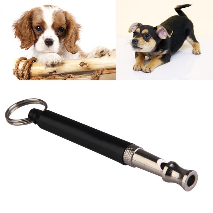 Sound Pet Dog Training Whistle Flute Portable Keychain Dog Whistle Adjustable Dog Flute black one size