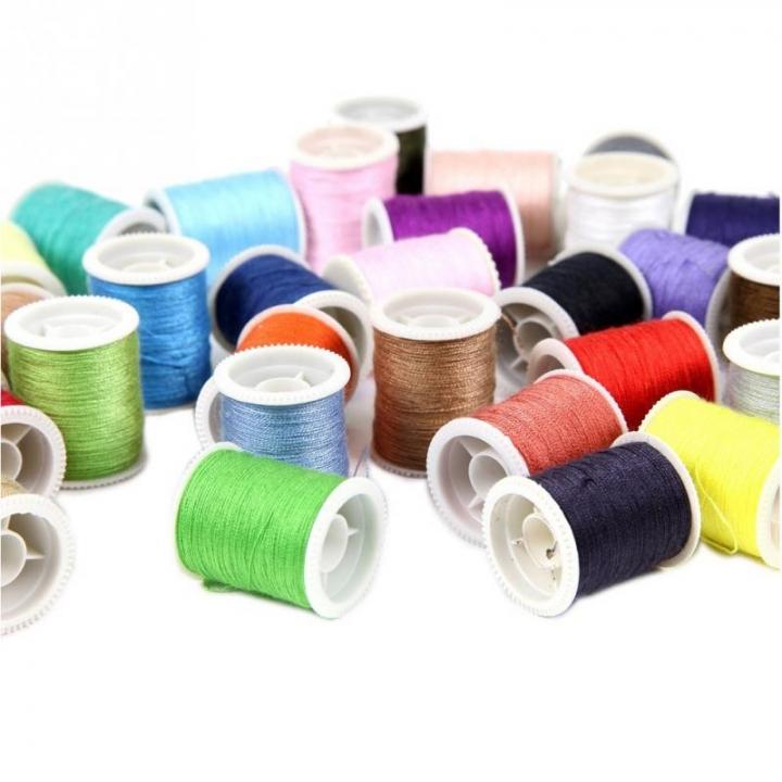Sewing Tools Kit Measure Scissor Thimble Thread Needle Storage Box Travel Set Colors Machine Line colour one size