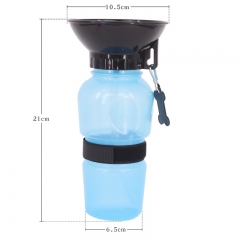 Portable Anti-spill Pet Dog Cat Drinking Water Bottle Outdoor Dogs Cats Feeding Water Kettle Cup blue one size