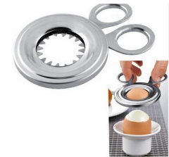 Egg Topper Snipper Eggshell Shell Opener Kitchen Household Tool Cutter scissor Clipper silver one size