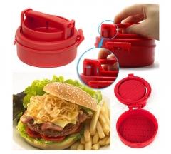Manual Hamburger Forms Press Burger Patties Maker Press Chef Cutlets Stuffed Hamburger Mold red one size