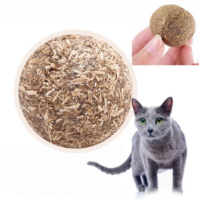 Pet Cat Natural Catnip Treat Ball Favor Home Chasing Toys Healthy Safe Edible Treating 1 one size