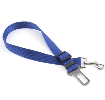 Adjustable Dog Car Safety Seat Belt Pets Dogs Seatbelt Cat Carriers Leads Belts Pet Accessories blue one size
