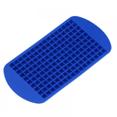 Grids DIY Creative Small Ice Cube Mold Square Shape Silicone Ice Tray Fruit Ice Cube Maker blue one size