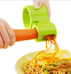 Spiral Vegetable Cutter Double Grater Sharpener Kitchen Cooking Tools Pasta Cutting Maker random color one size