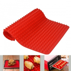 Creative Pyramid Silicone Baking Mat Nonstick Pan Pad Cooking Mat Oven Baking Tray Mat Kitchen red one size