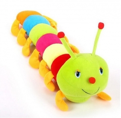 Colorful Caterpillar Big bug Doll Valentine's Day child gift Plush toy color one size