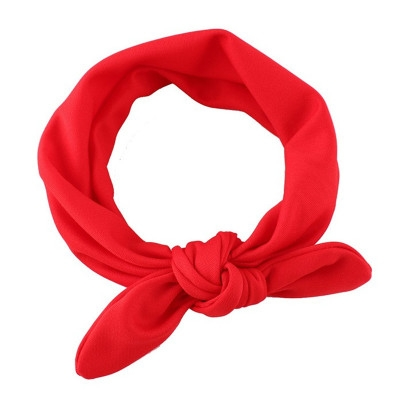 8 colors elastic fabric baby Headband  baby Headwear lovely Bow child Hair accessories red