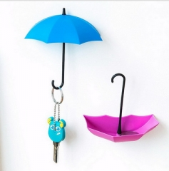umbrella modeling wall Adhesive Nailless hook up decoration 3Pcs one size