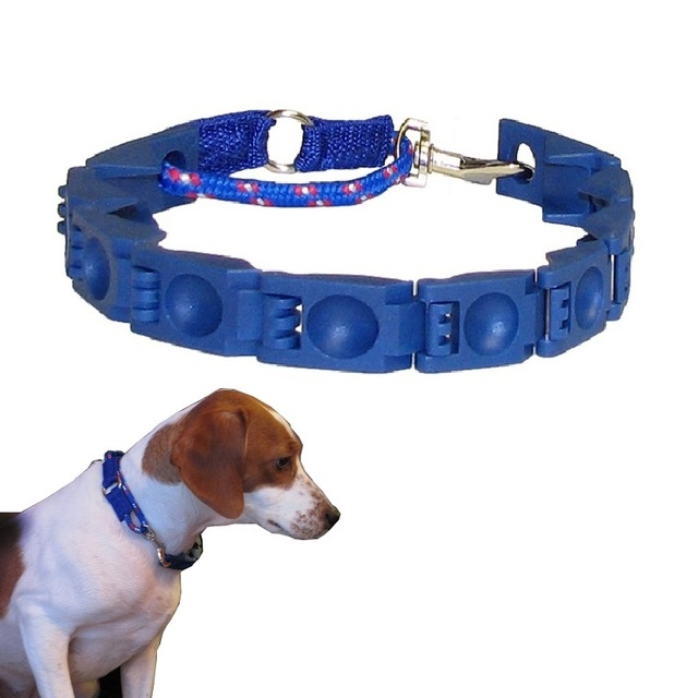 Don Sullivan Perfect Dog Command Collar Reduce Pulling Jumping Pinch Training for Medium/ Large dogs blue one size