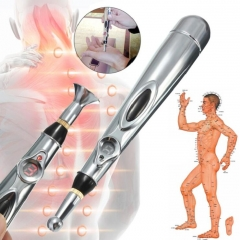 Electronic Acupuncture Pen Electric Laser Machine Magnet Therapy Meridian Energy Pen white
