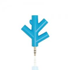 Audio conversion One-fifth Snowflake music Sharer headset Splitter distribution Splitter blue