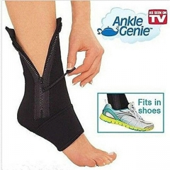 Movement zipper foot wrist sports socks Ankle Support Sleeve Shield Zip Up Compression Support black one size