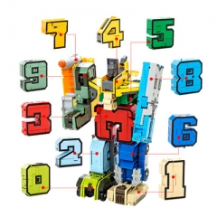 Creative digital Deformation robot DIY King Kong Fit child Puzzle toy 1 one size