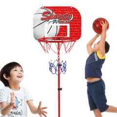 outdoor indoor motion Basketball hoop Shooting rack child Can lift Basketball stand red one size