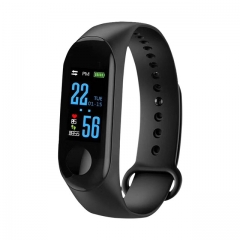M3 Plus Smart Bracelet Heart Rate Blood Pressure Multi-Sports Mode incoming call black one size