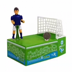 save money jar children savings box gift Creative soccer door frame piggy bank shot coins green one size